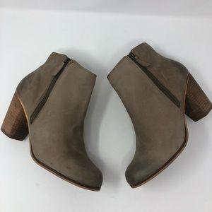 Nordstrom BP Leather Booties Stacked Heel 12W